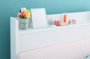 ベッド収納シングル棚・コンセント付き収納ベッド【Fleur】フルール【フレームのみ】シングル【受注発注】