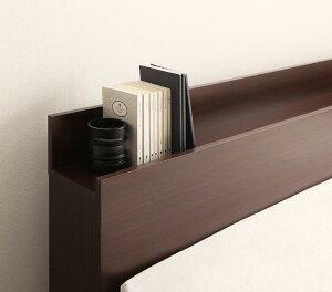 スタイリッシュなデザインで、加速する棚・コンセント付き収納ベッド【virzell】ヴィーゼル【フレームのみ】セミダブル【受注発注】