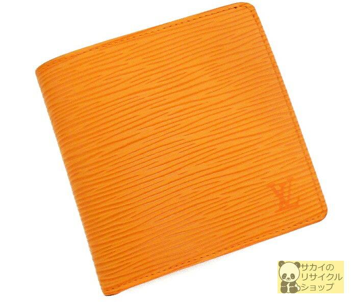 c96342597874 LOUIS VUITTON 二つ折り財布 ポルトフォイユ マルコ エピ マンダリン(オレンジ) 【】 財布 M6354H 【送料無料】