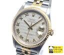 ロレックス ROLEX デイトジャスト Ref 16233 SS×K18YG メンズ腕時計 ローマンピラミッド文字盤 W番 新ジョイント 自動巻き アイボリー文字盤【送料無料】【新品仕上げ済み】【メンズ】【Watch】【中古】