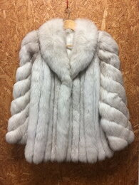 SAGAFOXサガフォックス毛皮コートファーコートホワイトグレー系表記サイズ:11[ka][GJ]【ir】【送料無料】