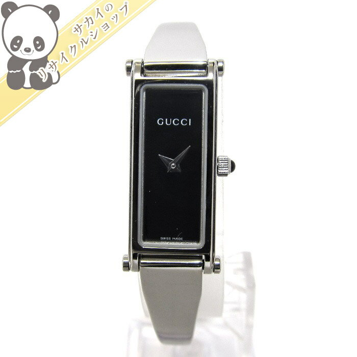 cc5ba8b44b9d GUCCI グッチ バングルウォッチ レディース腕時計 SS クォーツ 文字盤ブラック 1500L 【レディース】【watch】