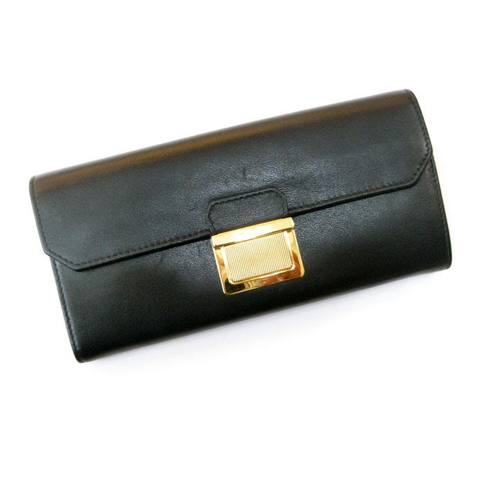 1bc582b2a4cb miumiu ミュウミュウ 二つ折り長財布 ネロ(黒) レザー 専用カードケース付属 5M1379