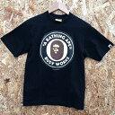 【中古】A BATHING APE ア ベイシングエイプ カットソー 半袖 Tシャツ レディース ブラック 表記サイズ:S[hs][jggI]
