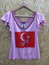 【中古】D&G ディーアンドジー レディース Tシャツ ピンク 表記サイズ:L[ic][jggI]