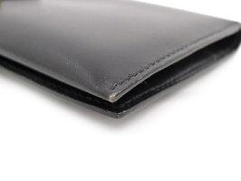 7eb3eb02a573 HERMES 二つ折り長財布 ベアンクラシック ボックスカーフ ブラック □H ...