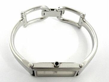 【中古】GUCCI レディース腕時計 バングルウォッチ クオーツ シルバー文字盤 SS シルバー 1500L