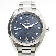 【中古】OMEGAシーマスターアクアテラボーイズ腕時計コーアクシャル220.10.34.20.53.001ネイビー文字盤(ラメ入り)11PD自動巻きステンレス