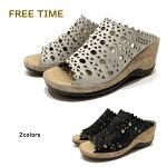 【お買い得セール】フリータイム(FREETIME)レディースサンダル靴ミュール品番33222幅3E厚底日本製アモーラエイカAMORA