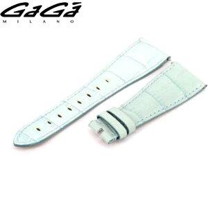 [正版零件] GAGA MILANO Gaga Milano正品表带, 用于48毫米手动安装宽度24毫米牛皮浅蓝色x针