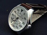 正規品ハミルトンカーキKHAKIパイロットクォーツ42mmケースシルバー文字盤ブラウンカーフベルト