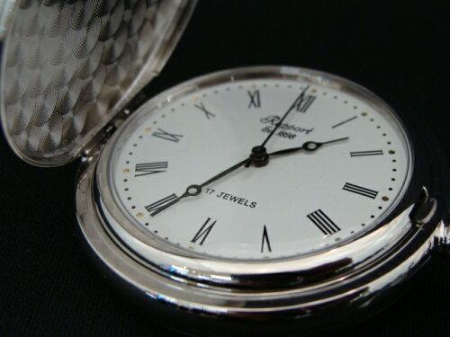 正規品Rapport「ラポート」 ポケットウォッチ懐中時計 シルバー色 手巻きモデル