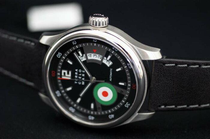 【あす楽】正規品イタリア腕時計 「テッラ・チエロ・マーレ」TERRA CIELO MARE ASSO「アッソ」 イタリア空軍シンボルマーク入り 自動巻き 送料無料【土日祝日発送可能】