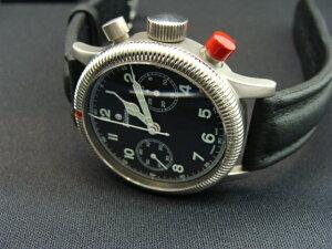 正規品チュチマTutima 1941年 復刻版 フリーガークロノ 手巻きクロノグラフ機構 783-01