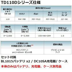 【台数限定】マキタ(makita)TD110DZ10.8V充電式インパクトドライバ本体のみCXTカラー:青【後払い不可】