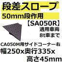 【CA050M専用 50mm段差用】 SA050R 国産ハイグレード段差スロープ キャスコーナーMシリーズ 右サイドコーナー(SA050-R)【後払い不可】