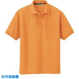 アイトス メンズ半袖ポロシャツ オレンジ LL  〔品番:CL1000-012-LL〕[1441251]「送料別途見積り,法人・事業所限定,取寄」