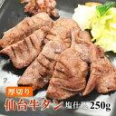 仙台牛タン 肉厚 塩仕込み牛タン 250g 長期熟成