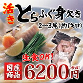 【冷凍便同梱可】<生食可能!国産とらふぐみがき>1kg