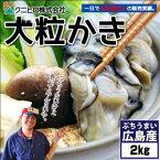 【送料無料】広島県産 冷凍牡蠣 (カキ)2kg(冷凍便)[メール便:不可]