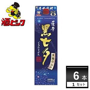 [Cashless 5% reduction target] Potato shochu black Tanabata 25 degrees 1800 ml x 6 [Free shipping * Excluding some areas]
