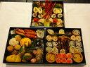 京都、冷蔵、三段重おせち(自家製手作り・生おせち・数量限定)5人から6人用、約35種入、約20センチ角、簡易重箱入の商品画像