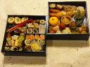 京都、冷蔵、二段重おせち(自家製手作り・生おせち・数量限定)3人から4人用、約30種入、約20センチ角、簡易重箱入りの商品画像
