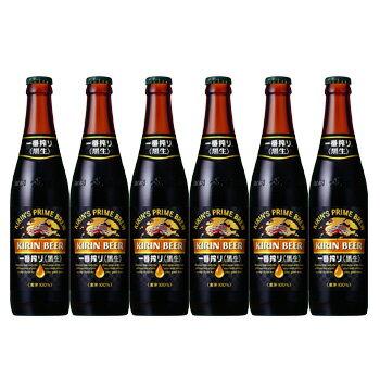 キリンビール 一番搾り 黒生 小瓶 334ml ビール6本セット ビール 【ラッキーシール対応】