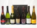 ドンペリ飲み比べ7本セット(ドンペリニヨンロゼ、ドンペリニヨン白、+世界の厳選スパークリングワイン(辛口4本、甘口1本))750ml×6本