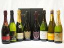 ドンペリ飲み比べ8本セット(ドンペリニヨンロゼ、ドンペリニヨン白、+世界の厳選スパークリングワイン(辛口4本、甘口2本))750ml×8本