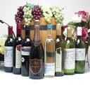 【最大2000円オフクーポン9日1:59迄】【パーティーワイン&日本酒福袋8本セット】高品質ワイン6本(赤3本、白3本)とスパークリングワインロゼ1本と生酒原酒1本500ml