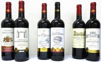 2セットセレクション金賞受賞酒フランスボルドーワイン(金賞6本)赤ワイン6本×2セット750ml×12本