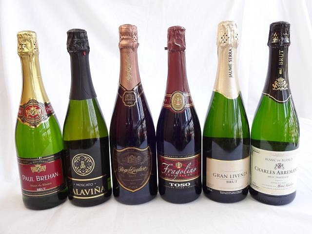 【 セット】ドンペリに勝った噂のロジャー グラート +世界のスパークリングワイン飲み比べ5本セット!泡ワイン6本セット