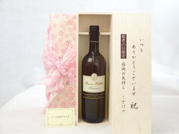 敬老の日 ワインセット いつもありがとうございます感謝の気持ち木箱セット( ブォン・ファットーレ・ロッソ 赤(イタリア)750ml メッセージカード付