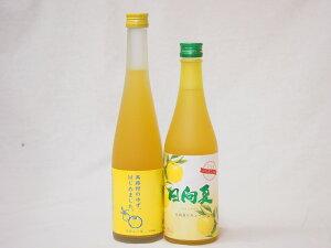 セール!フルーツなお酒福袋セット(日向夏リキュール、ゆずはじめました柚子梅酒)500ml×2本