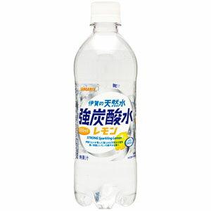 サンガリア 伊賀の天然水 強炭酸水 レモン 500ml×24本(1ケース)