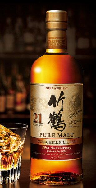 ウイスキー, ジャパニーズ・ウイスキー 21 48700ml NIKKA puremaltwhisky taketsuru21y NON-CHILL FILTERED
