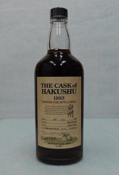 ザ・カスクオブ白州 スパニッシュオーク ボタコルタ1993 60%700ml【THE CASK of HAKUSHU】Cask No 3C40788:酒のスーパー足軽