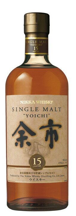 シングルモルト余市15年45度700ml【箱無し】  nikkamaltwhisky:酒のスーパー足軽