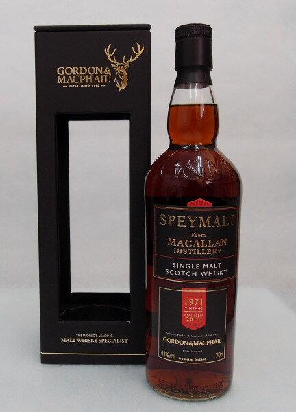 スペイモルト フロム マッカラン【1971-2013】43%700mlゴードン&マクファイル社SPEYMALT From MACALLAN 1971:酒のスーパー足軽