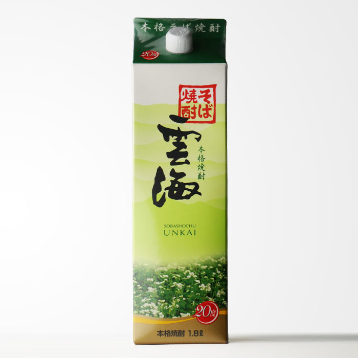そば焼酎 雲海酒造 「雲海」 (うんかい) 20度1800mlパック 【宮崎県】 【RCP】