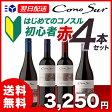 【あす楽】【送料無料】 コノスル ビシクレタ(ヴァラエタル) 初心者 赤ワイン 4本セット