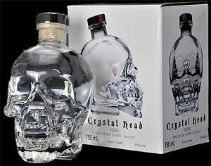 大容量1750ml★頭蓋骨型ボトルのウォッカ コレクターアイテムクリスタル ヘッド ウォッカ [ ...