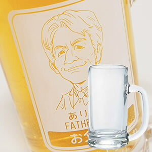 【似顔絵彫刻】超絶人気!ビールジョッキ