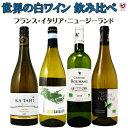 フランス・イタリア・ニュージーランド 世界の白ワイン 飲み比べ白4本セット【通常便 送料無料】【B4-011】