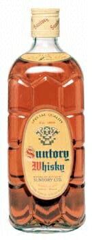 Square bottle of Suntory whisky 700 ml
