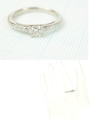 ポンテヴェキオPt900ダイヤリング【超美品】【送料無料】
