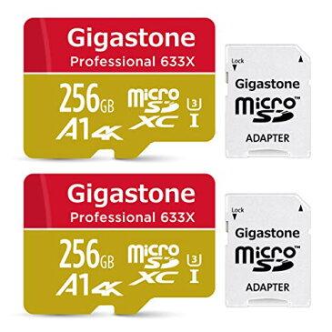 【5年保証 】Gigastone Micro SD Card 256GB マイクロSDカード A1 4K U3 100MB/S Nintendo Switch 動作確認済 2個セット SDダプタ付 ミニ収納ケース付 SDXC micro sd カード Full HD 4Kビデオ