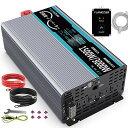 正弦波 インバーター 1500W 12Vを100Vに変換 50hz/60hz切り替...