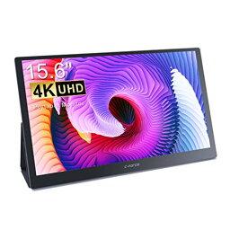 モバイルモニター モバイルディスプレイ 15.6インチ C-Force スイッチ用モニター IPS パネル 薄い 軽量 3840x2160 UHD USB Tpye-C/HDMI/スタンド付 (99%sRGB)